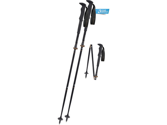 Komperdell Carbon FXP 4 Summit Vario Trekking Pole, black/brown